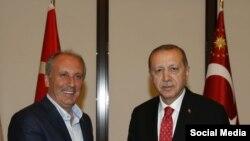 Muharrem İnce və Recep Tayyip Erdoğan