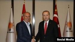 Muharrem Înce û Recep Tayyîp Erdogan