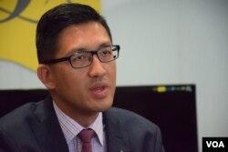 香港民主黨立法會議員林卓廷。(美國之音湯惠芸攝)
