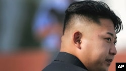 FILE - North Korean leader Kim Jong Un arrives at the cemeteries of fallen fighters of the Korean People's Army in Pyongyang.