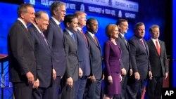 共和黨總統候選人10月28日第三場辯論資料照。