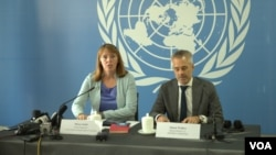 UN Special Rapporteur Rhona Smith at a conference in Phnom Penh, Cambodia, November 8, 2018. (Hul Reaksmey/VOA Khmer)