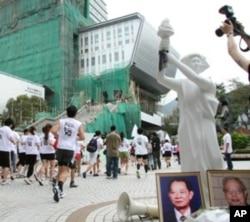 香港活動人士長跑顯示平反六四決心