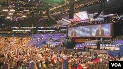 미국 노스캐롤라이나주 샬럿에서 열린 미국 민주당 전당대회.