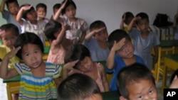 북한의 고아원 어린이들 (자료사진)