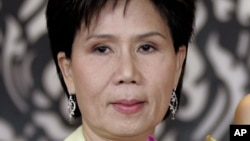 FILE - This June 2005 file photo, shows Juthamas Siriwan, the former governor of the Tourism Authority of Thailand.