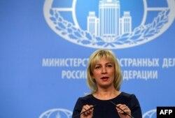 Portparolka ministarstva spoljnih poslova Rusije Marija Zaharova (Foto: AFP/Yuri Kadobnov)