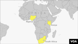 Map shows African nations looking to establish or expand nuclear power capabilities.