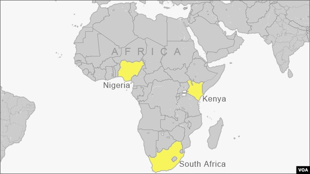 Map highlighting African nations looking to establish or expand nuclear power capabilities.
