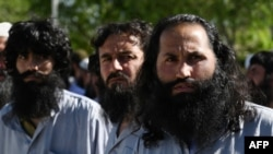 شماری از زندانیان طالبان که روز سه شنبه از زندان بگرام آزاد شدند