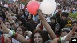巴基斯坦婦女參加提倡性別平等的集會