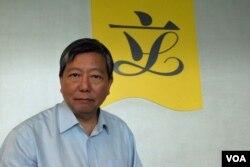 香港工黨副主席、立法會議員李卓人。(美國之音湯惠芸)
