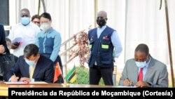 Entrega de vacinas da China ao Governo de Moçambique, Maputo