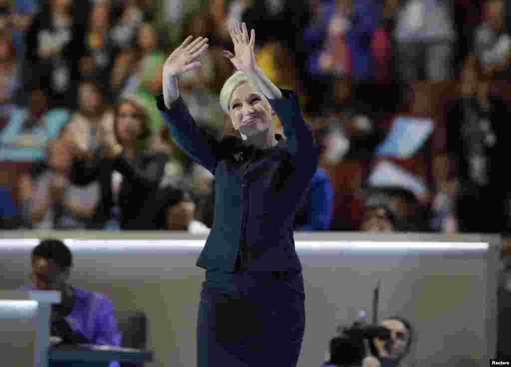 La président du planning familial Cecile Richards lors du deuxième jour de la convention nationale démocrate à Philadelphie, Pennsylvanie, le 26 juillet 2016.