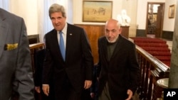 Джон Керри и Хамид Карзай. Кабул. 25 марта 2013 г.