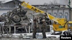 19일 아프가니스탄 수도 카불에 자살 폭탄 테러가 발생했다.