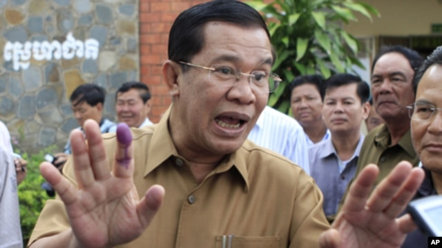 The premier made his statements during a speech in the coastal municipality of Kep. Hun Sen has begun regularly denouncing the opposition on the airwaves, with July's national election approaching.