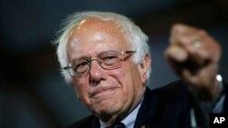 Bernie Sanders habló a sus seguidores en Burlington, Vermont, el jueves, 16 de junio de 2016.