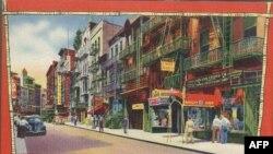 Китайський квартал у Нью-Йорку - відкритка