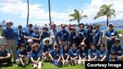 지난해 하와이에서 열린 제 6회 통일선교대회에서 참가자들이 기념사진 촬영을 하고 있다.