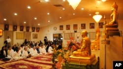 The ceremony at Wat Buddhikarama, in Maryland, had raised $4,900 by Monday.