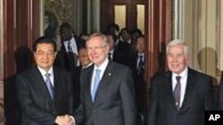 美國會參議院多數黨領袖里德會見中國國家主席胡錦濤