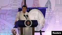 (资料图)菲律宾总统在菲律宾东盟主席国启动仪式上发表讲话(2017年1月15日)