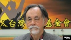 台湾政治评论人士、民进党大老林浊水(美国之音张永泰拍摄)