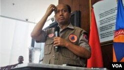 Kepala pusat data dan informasi BNPB, Sutopo Purwo Nugroho (Foto: VOA/Fathiyah)