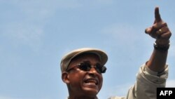 Le chef de l'opposition guinéenne Cellou Dalein Diallo lors d'une réunion de l'opposition à Conakry, le 16 juillet 2017.