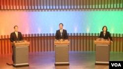 中华民国第14任总统候选人首场辩论会 (照片来源:公共电视台)