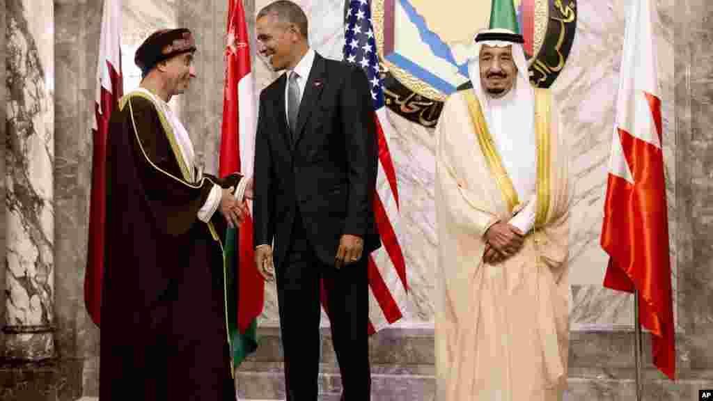 Barack Obama et le roi Salmane d'Arabie saoudite, en Arabie Saoudite, 20 avril, 2016.