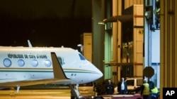 Vue partielle de l'aéroport de Rotterdam où venait d'atterrir l'avion de l'ancien président ivoirien, Laurent Gbagbo, le 30 novembre 2011