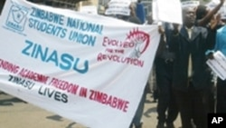 The Zimbabwe National Students Union says the government's cadetship programme has failed.