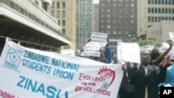 Zimbabwe National Students Union in previous protest.