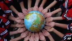 世界各國慶祝地球日。