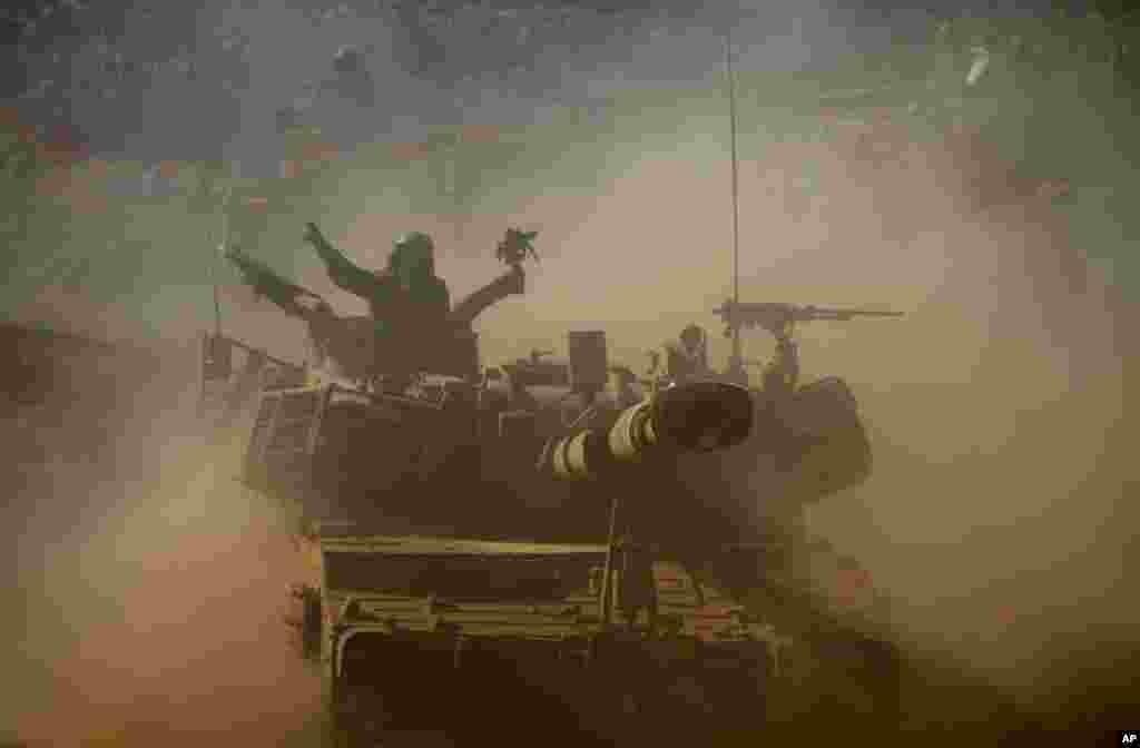 19일 골란 고원에서 실시된 이스라엘군의 군사 훈련. 시리아의 내전 이후, 이스라엘에서 실시된 군사훈련 중 최대 규모다.