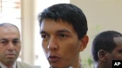 Madagascar President Andry Rajoelina (file photo)
