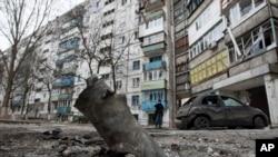 Mariupolj posle napada pobunjenika, 25. januar, 2015.