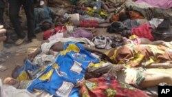 Gwarwakin mutane da ake zargin 'Yan Boko Haram ne suka halaka su.
