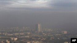 Skopje, Macedonia, berselimut kabut polusi, 8 November 2015. (Foto: dok).