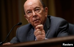 FILE - U.S. Commerce Secretary Wilbur Ross testifies before a Senate Finance hearing on Capitol Hill in Washington, June 20, 2018.