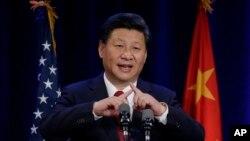 Ông Tập Cận Bình nói về biểu tượng của Trung Quốc cho chữ 'người', tương tự như hai cây gậy hỗ trợ nhau trong bài phát biểu hôm thứ ba 22/9/2015 tại Seattle.