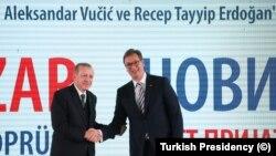 Cumhurbaşkanı Erdogan ve Sırbistan Cumhurbaşkanı Aleksandar Vucic