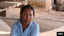 Horm Seang, a 54-year-old mother in Kampong Cham province, asked her son to work in South Korea, following several families in the commune. (Sun Narin/VOA Khmer)