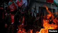 Biểu tình tại dải Gaza phản đối quyết định công nhận Jerusalem là thủ đô của Israel, ngày 7/12/2017.
