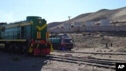 استفاده از اولین خط آهن در شمال افغانستان