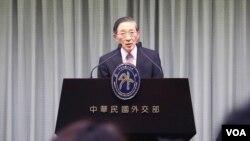 台灣外交部長林永樂。(美國之音李逸華拍攝)