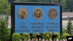 FILE - A sign stands outside the National Security Agency (NSA) campus in Fort Meade, Md., June 6, 2013.