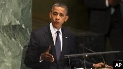 Pareciera que el presidente Obama estaba dando un golpe de vuelta a las críticas de Romney en su discurso previo a la Asamblea General de la ONU.